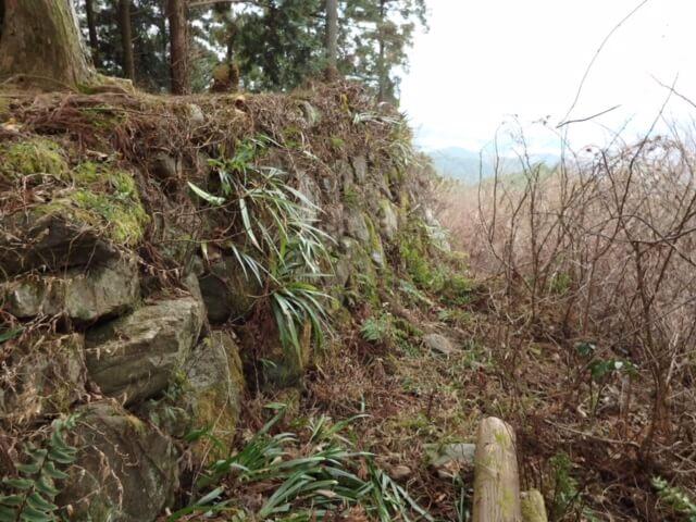 大和高取城国見櫓趾北側面石垣(本荘良智)