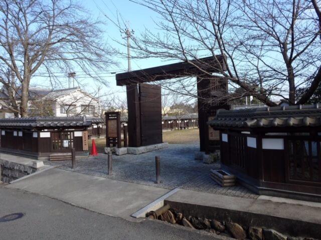 大和高取城児童公園に移築された松ノ門(本荘良智)