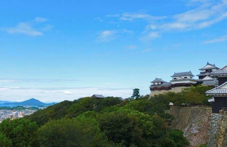 松山城本丸から北西を望む