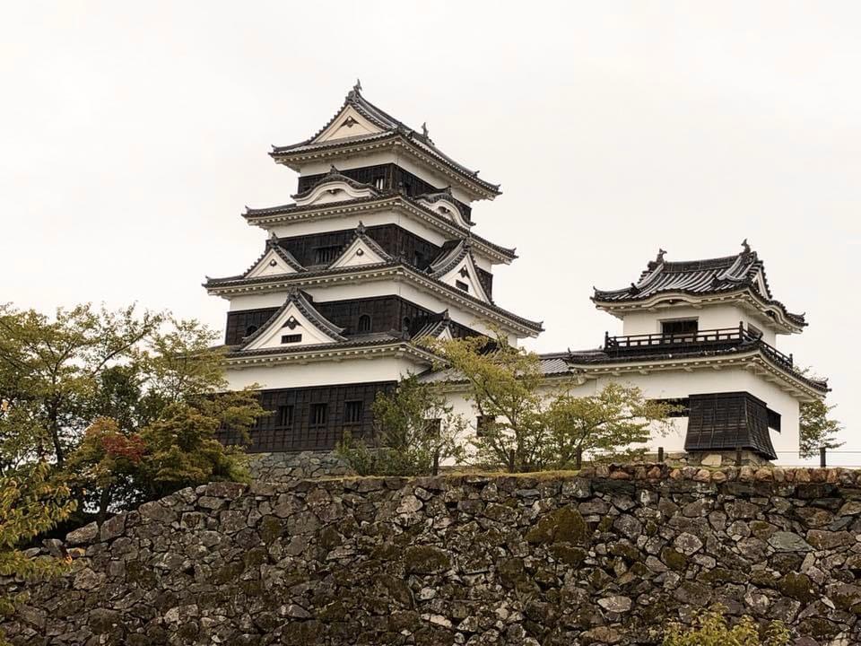 大洲城天守と高欄櫓