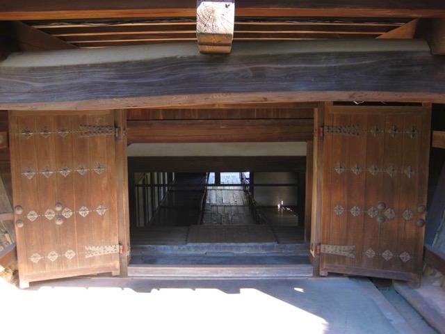 詰門の本丸側出口